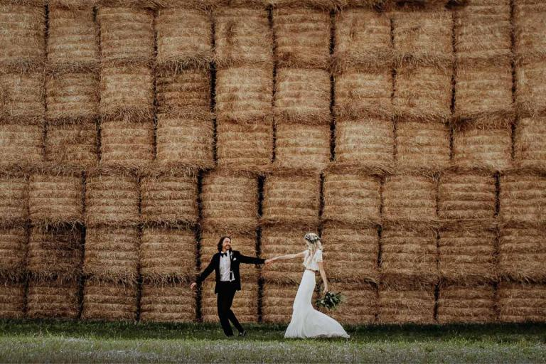 Married Couple Straw Bales